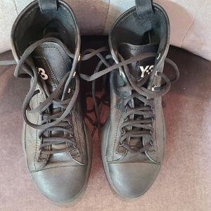 Y3 Adidas Leather High Tops